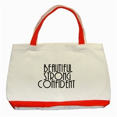 Beautiful Strong Confident  Classic Tote Bag (Red)