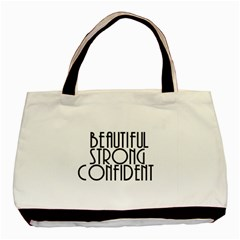 Beautiful Strong Confident  Twin-sided Black Tote Bag