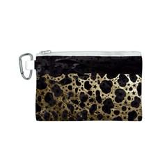 Cheetah Stars Gold  Canvas Cosmetic Bag (Small)