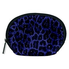 Blue Leapord Bling Accessory Pouch (medium)