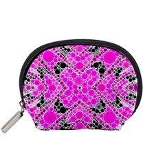 Bling Pink Black Kieledescope  Accessory Pouch (small)