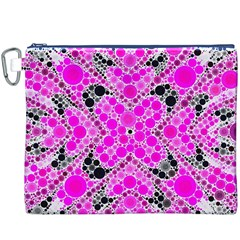 Bling Pink Black Kieledescope  Canvas Cosmetic Bag (XXXL)