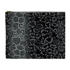 Black Cheetah Abstract Cosmetic Bag (xl)