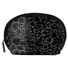 Black Cheetah Abstract Accessory Pouch (Large)