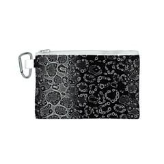 Black Cheetah Abstract Canvas Cosmetic Bag (small)