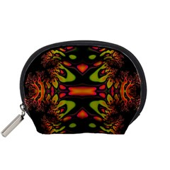 Crazy Florescent Fractal Accessory Pouch (Small)