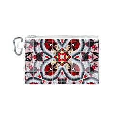 Fashion Girl Red Canvas Cosmetic Bag (small)