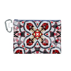 Fashion Girl Red Canvas Cosmetic Bag (Medium)