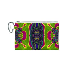Hippie Fractal  Canvas Cosmetic Bag (Small)