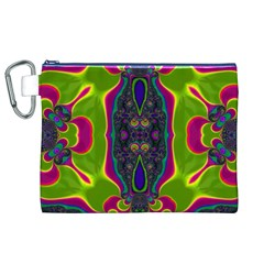 Hippie Fractal  Canvas Cosmetic Bag (XL)