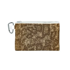 Snake Skin Abstract Canvas Cosmetic Bag (Small)
