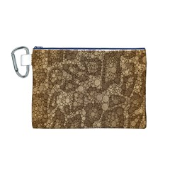 Snake Skin Abstract Canvas Cosmetic Bag (Medium)