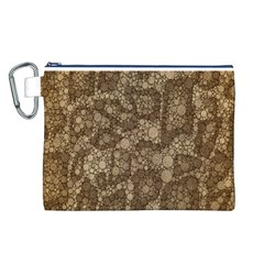 Snake Skin Abstract Canvas Cosmetic Bag (Large)