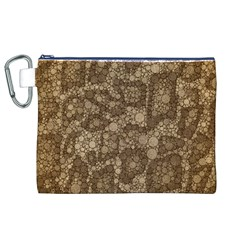 Snake Skin Abstract Canvas Cosmetic Bag (XL)