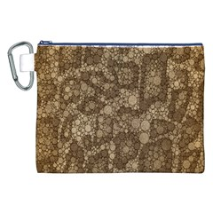Snake Skin Abstract Canvas Cosmetic Bag (xxl)
