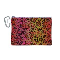 Cheetah Abstract  Canvas Cosmetic Bag (Medium)