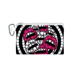 Bling Lips  Canvas Cosmetic Bag (Small)