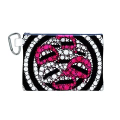 Bling Lips  Canvas Cosmetic Bag (Medium)