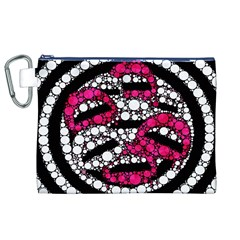 Bling Lips  Canvas Cosmetic Bag (xl)