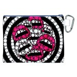 Bling Lips  Canvas Cosmetic Bag (XXL) Back