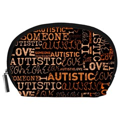 I Love Someone Autistic  Accessory Pouch (large)
