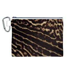 Leopard Texture  Canvas Cosmetic Bag (Large)