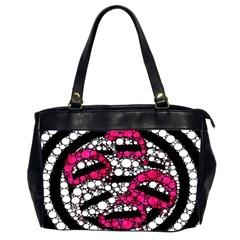 Bling Lips  Oversize Office Handbag (two Sides)