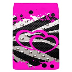 Torn Zebra Heart Removable Flap Cover (small)