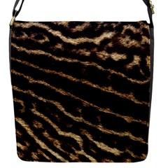 Leopard Texture  Flap Closure Messenger Bag (small)