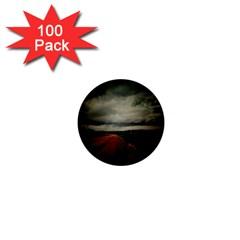 Dark Empty Road 1  Mini Button (100 Pack)