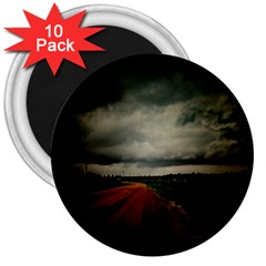 Dark Empty Road 3  Button Magnet (10 Pack)