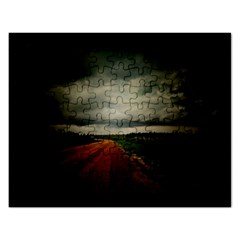 Dark Empty Road Jigsaw Puzzle (rectangle)