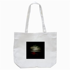 Dark Empty Road Tote Bag (White)