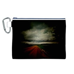Dark Empty Road Canvas Cosmetic Bag (Large)