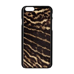 Leopard Texture  Apple iPhone 6 Black Enamel Case