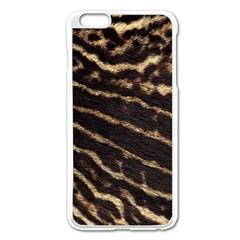 Leopard Texture  Apple iPhone 6 Plus Enamel White Case