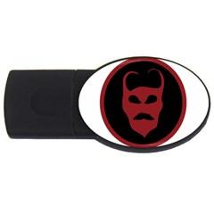 Devil Symbol Logo 4gb Usb Flash Drive (oval)