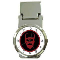 Devil Symbol Logo Money Clip With Watch