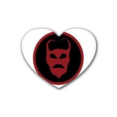Devil Symbol Logo Drink Coasters (heart)