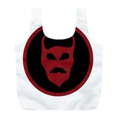 Devil Symbol Logo Reusable Bag (L)