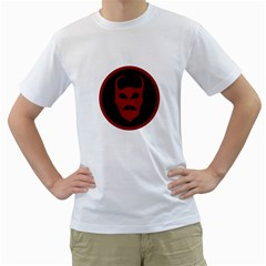 Devil Symbol Logo Men s T Shirt (white)