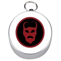 Devil Symbol Logo Silver Compass