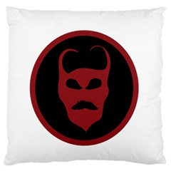 Devil Symbol Logo Large Flano Cushion Case (One Side)