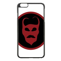 Devil Symbol Logo Apple iPhone 6 Plus Black Enamel Case