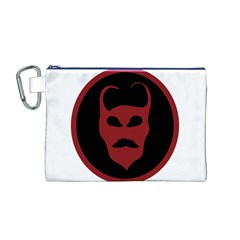Devil Symbol Logo Canvas Cosmetic Bag (Medium)