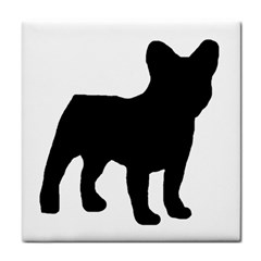 French Bulldog Silo Black Ls Ceramic Tile