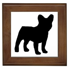 French Bulldog Silo Black Ls Framed Ceramic Tile