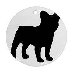 French Bulldog Silo Black Ls Round Ornament