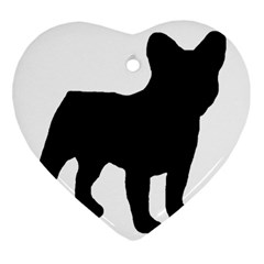 French Bulldog Silo Black Ls Heart Ornament