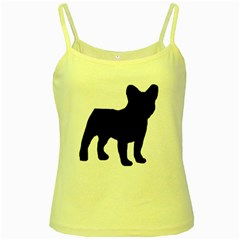 French Bulldog Silo Black Ls Yellow Spaghetti Tank